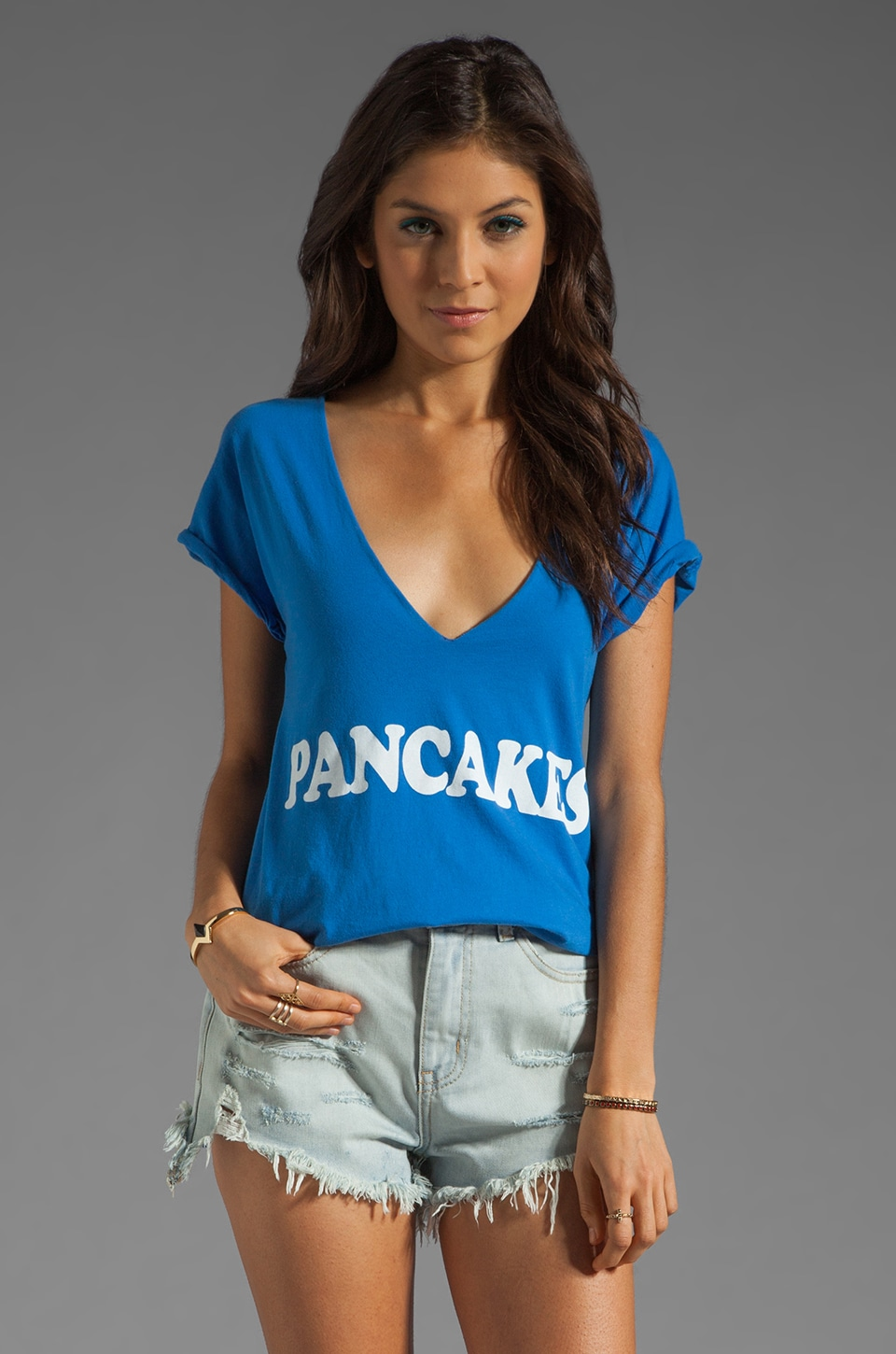 Local Celebrity Pancakes Tee in Royal