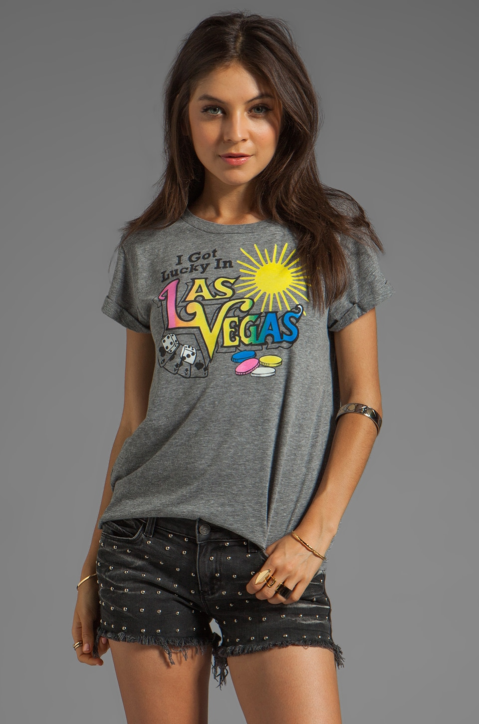 Local Celebrity Las Vegas Tee in Heather Grey