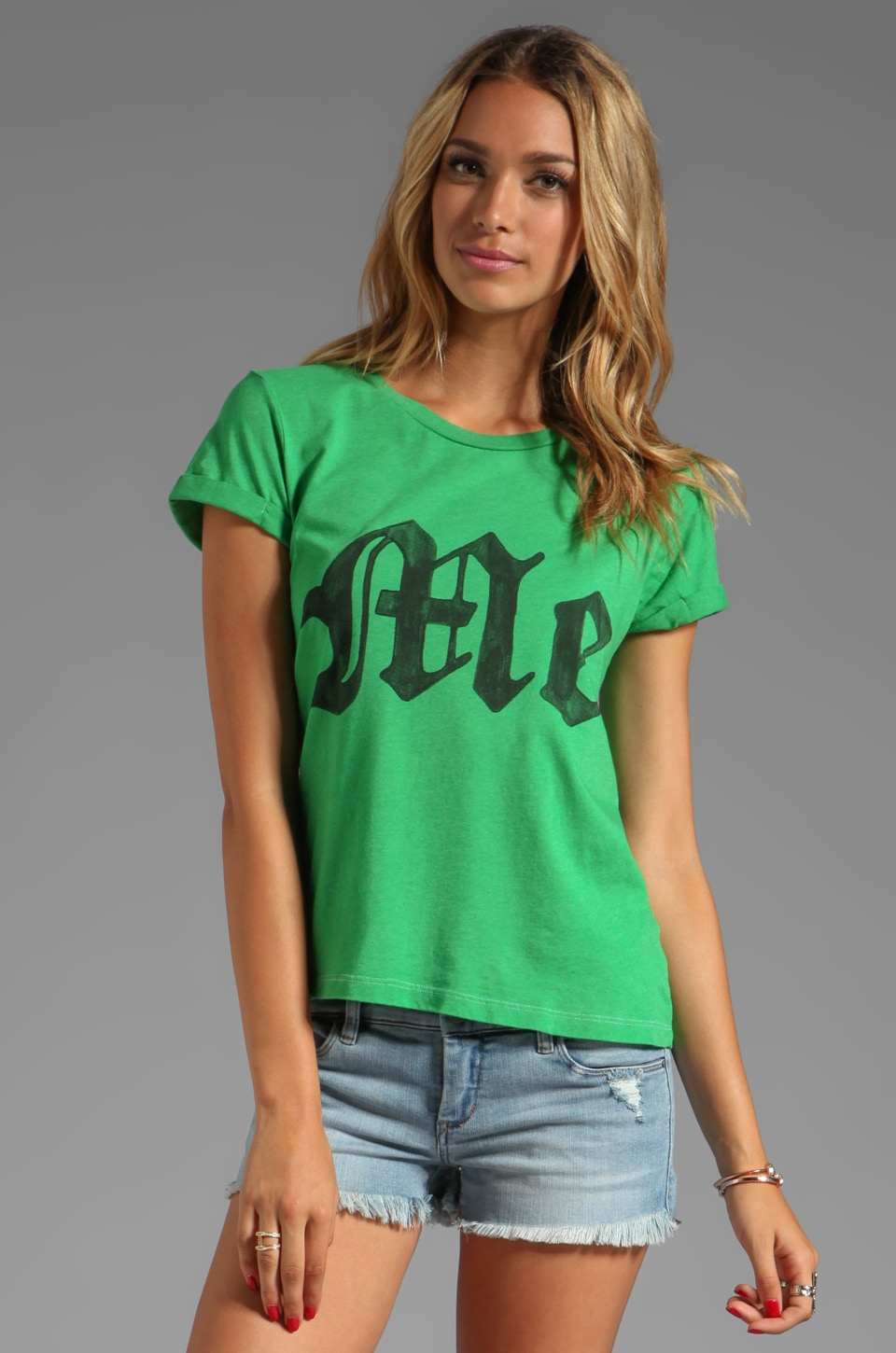 Local Celebrity Me Tee in Green