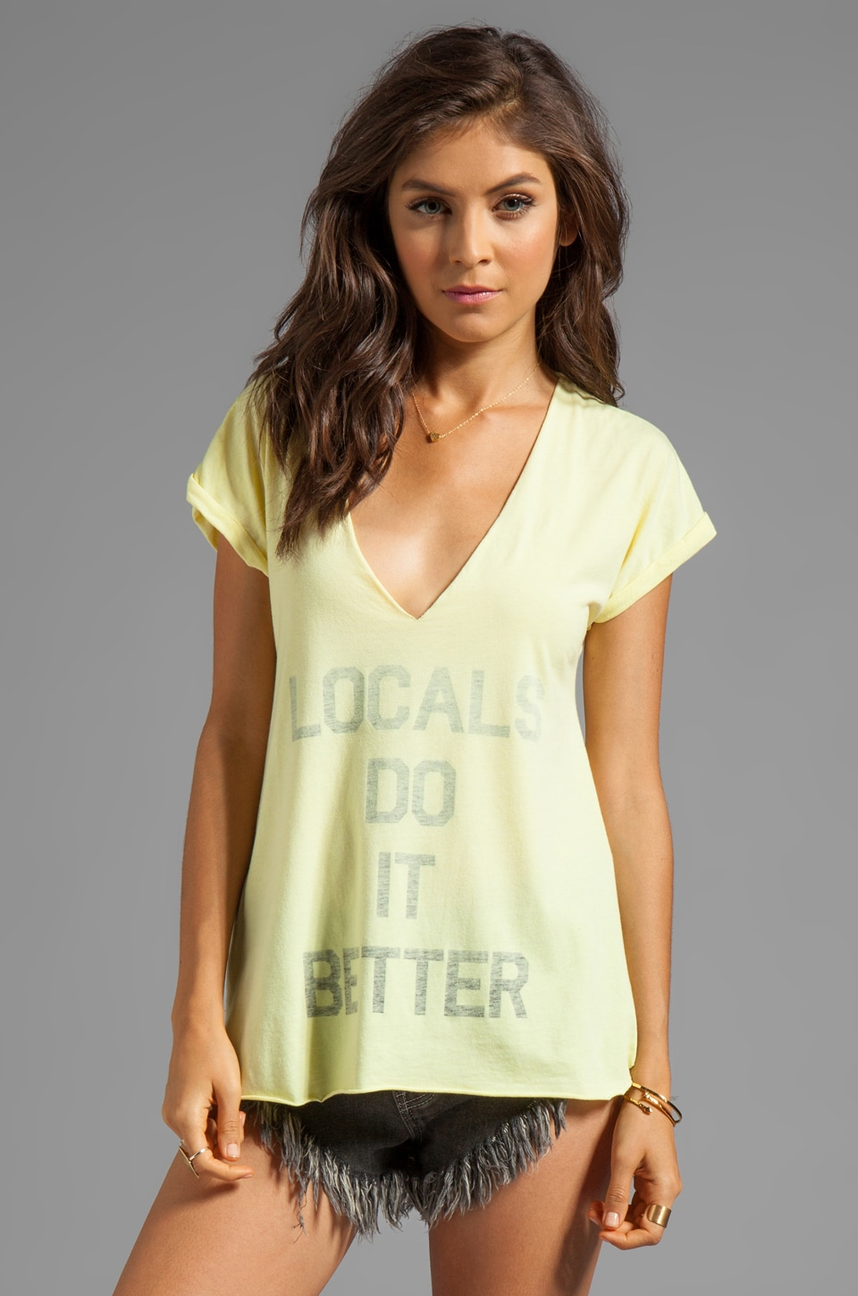 Local Celebrity Locals Do It Better Logan Tee in Citrus
