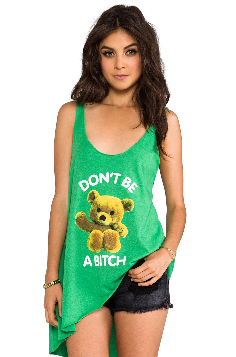 Local Celebrity Don't Be A Bitch Ziggy Tank in Green