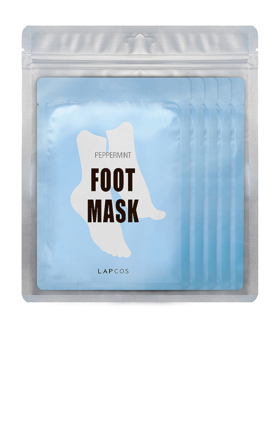 LAPCOS Peppermint Cooling Foot Mask 5 Pack