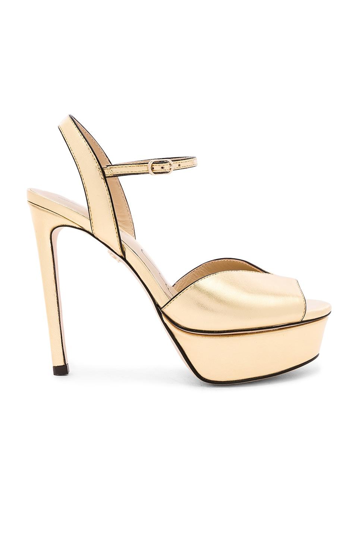 Lola Cruz Platform Heel in Gold