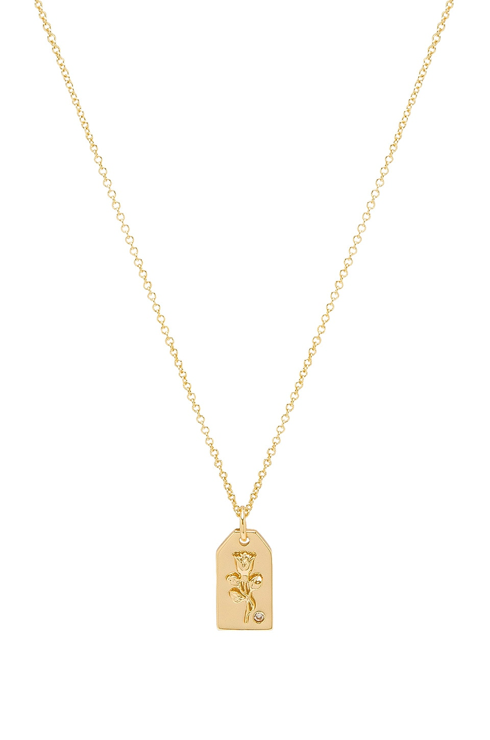 LULU DK X WEWOREWHAT ROSE ENVELOPE NECKLACE