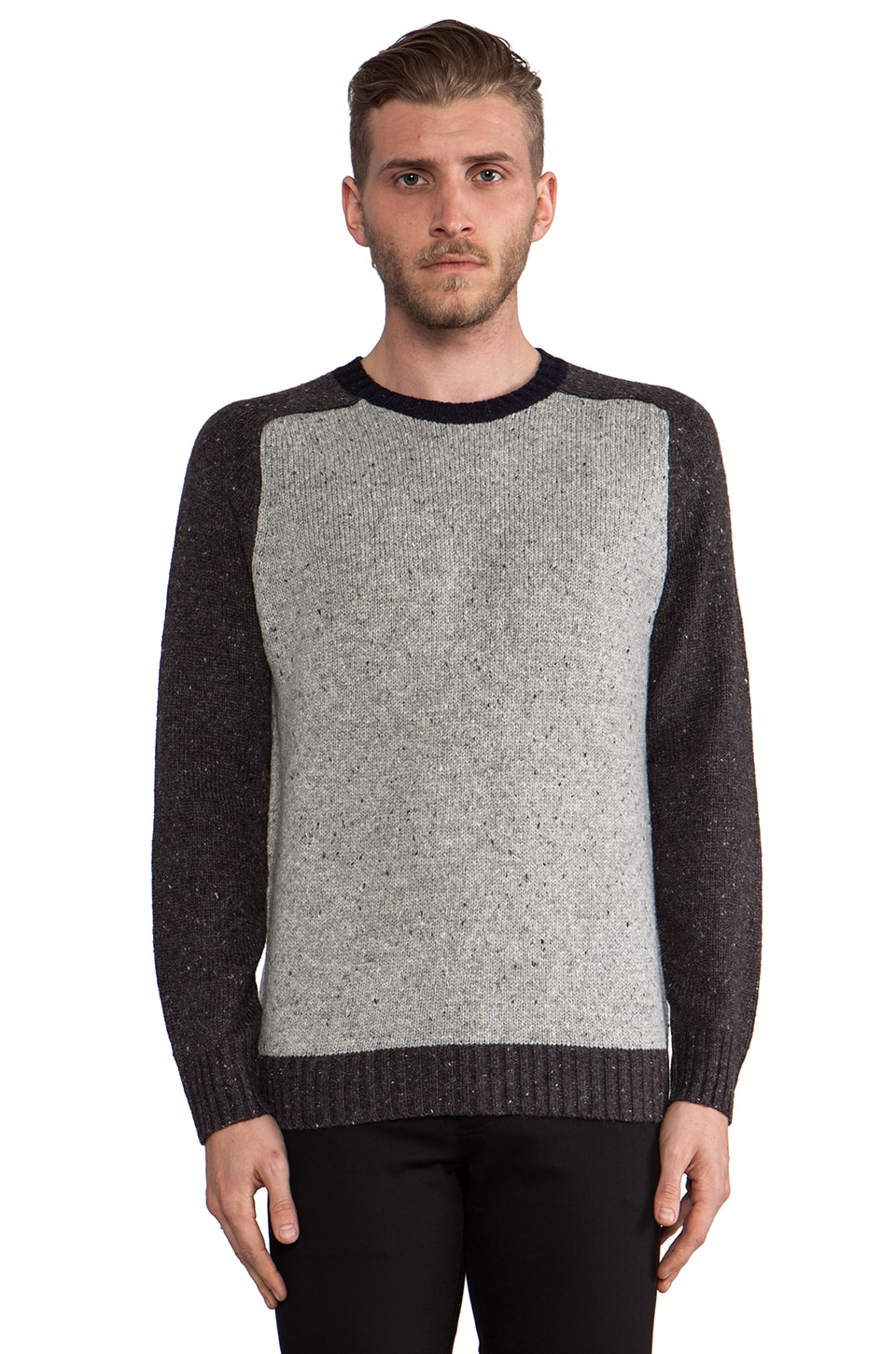 life/after/denim Kings Crew Sweater in Heather Charcoal