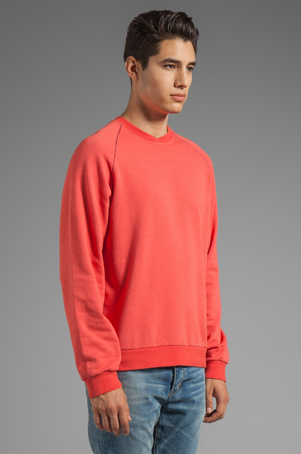 life/after/denim Paddle Boat Sweatshirt in Melon