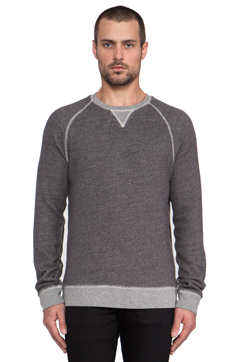 life/after/denim Saratoga Sweatshirt in Heather Charcoal