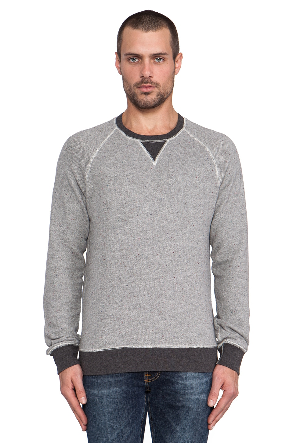 life/after/denim Saratoga Sweatshirt in Heather Grey