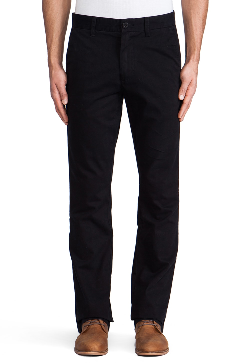 life/after/denim 7oz Classic Slim Twill Chino in Black
