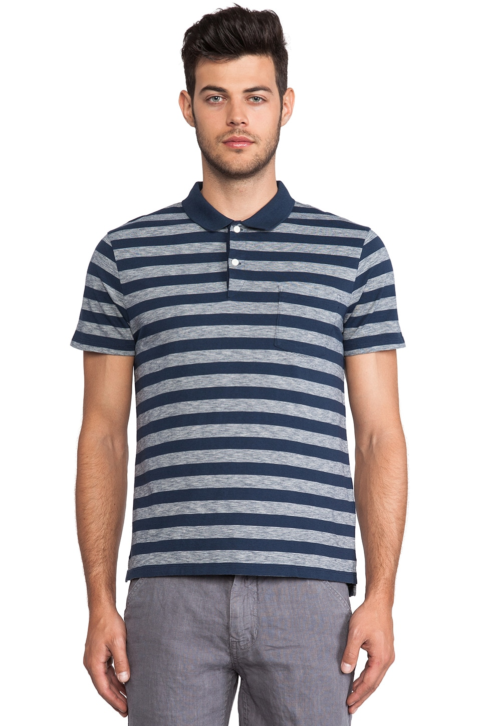 life/after/denim Becker Polo in Navy