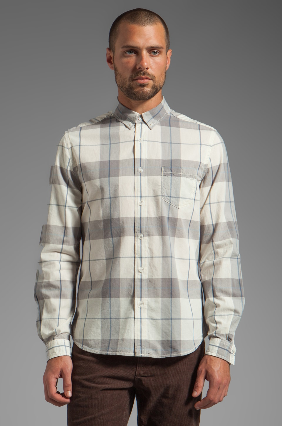 life/after/denim Lake Merced Shirt in Pewter