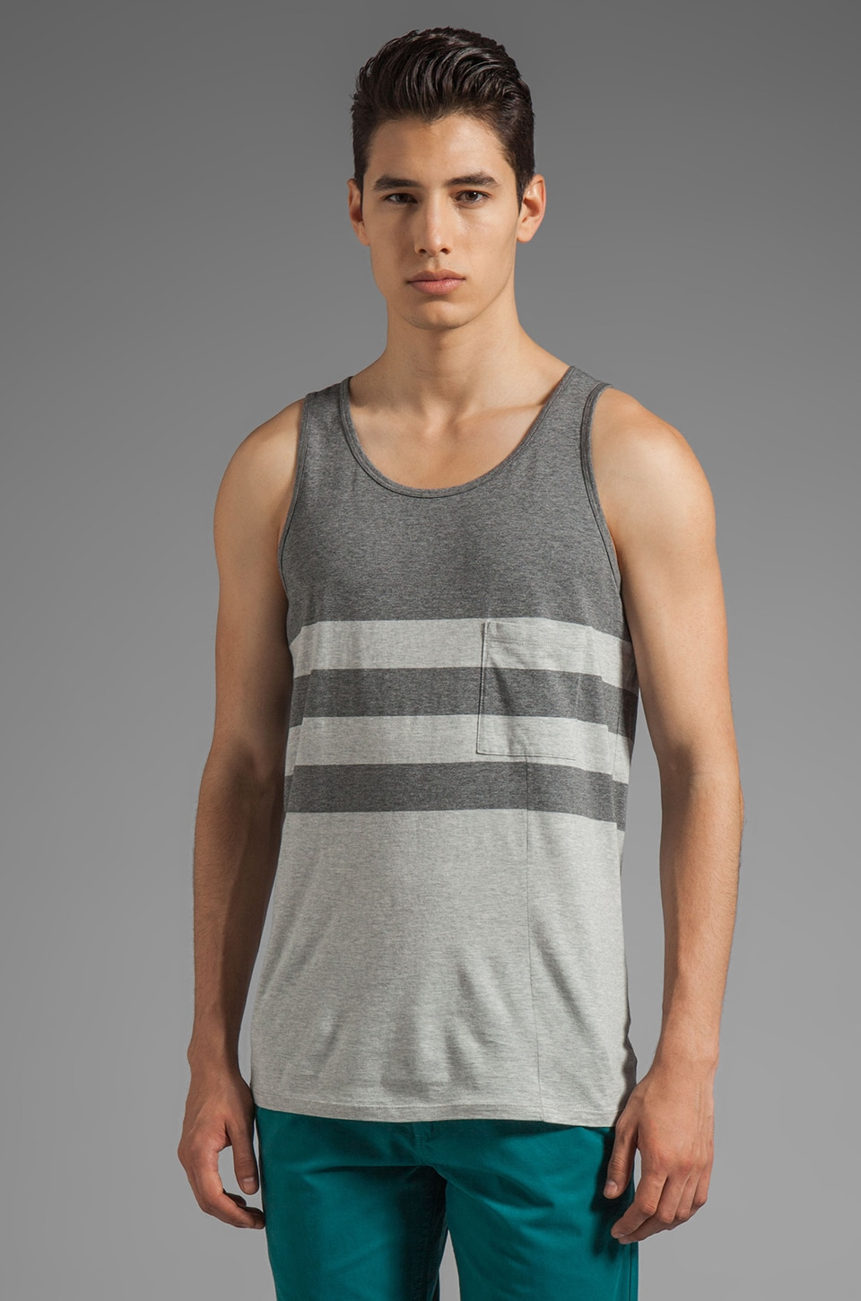 life/after/denim Tiger Tank en Anthracite Chiné