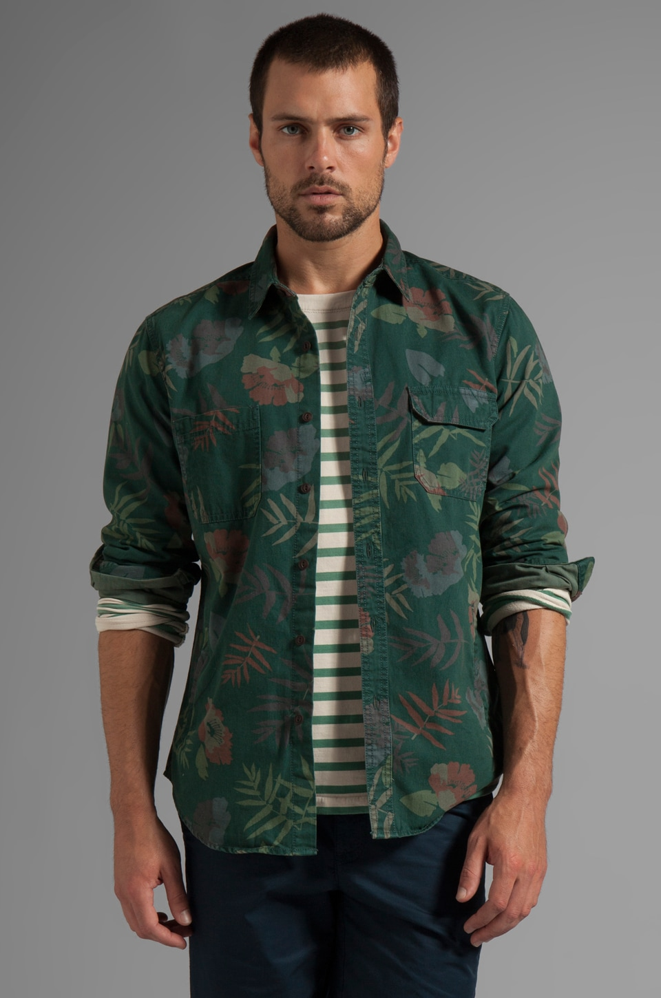 life/after/denim Resort Shirt in Emerald