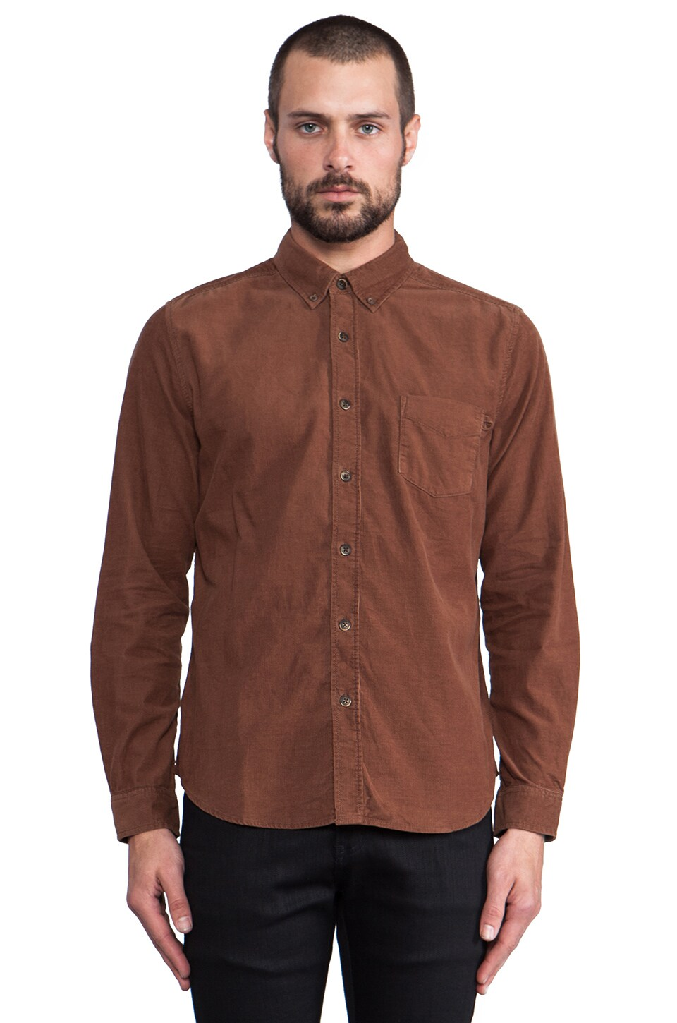 life/after/denim Silverlake Button Down in Chocolate