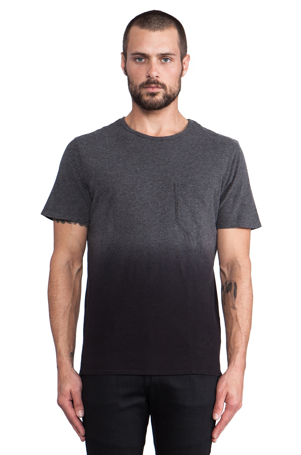 life/after/denim Sun Tee Dip in Black