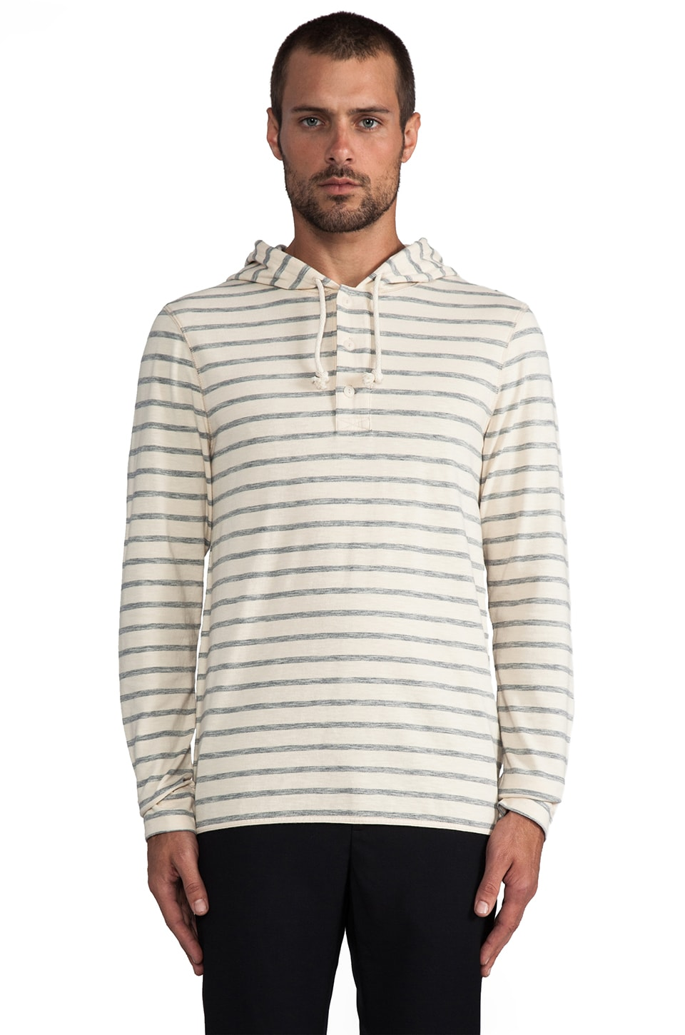 life/after/denim Leceister Stripe Henley in Knight