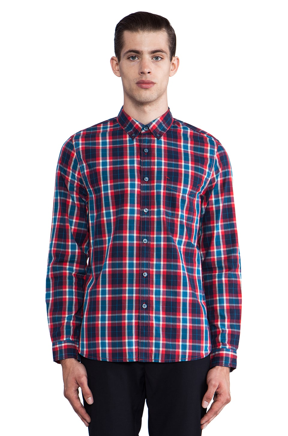 life/after/denim Cromwell Button Down in Cherry-O