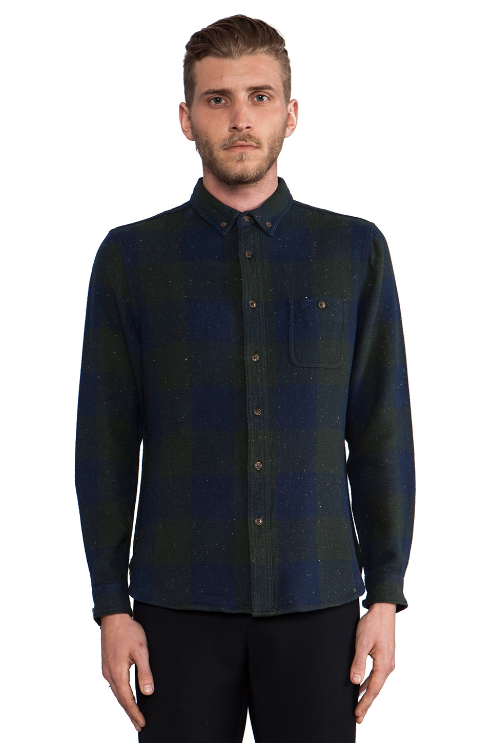 life/after/denim Griswold Shirt in Hunter Green