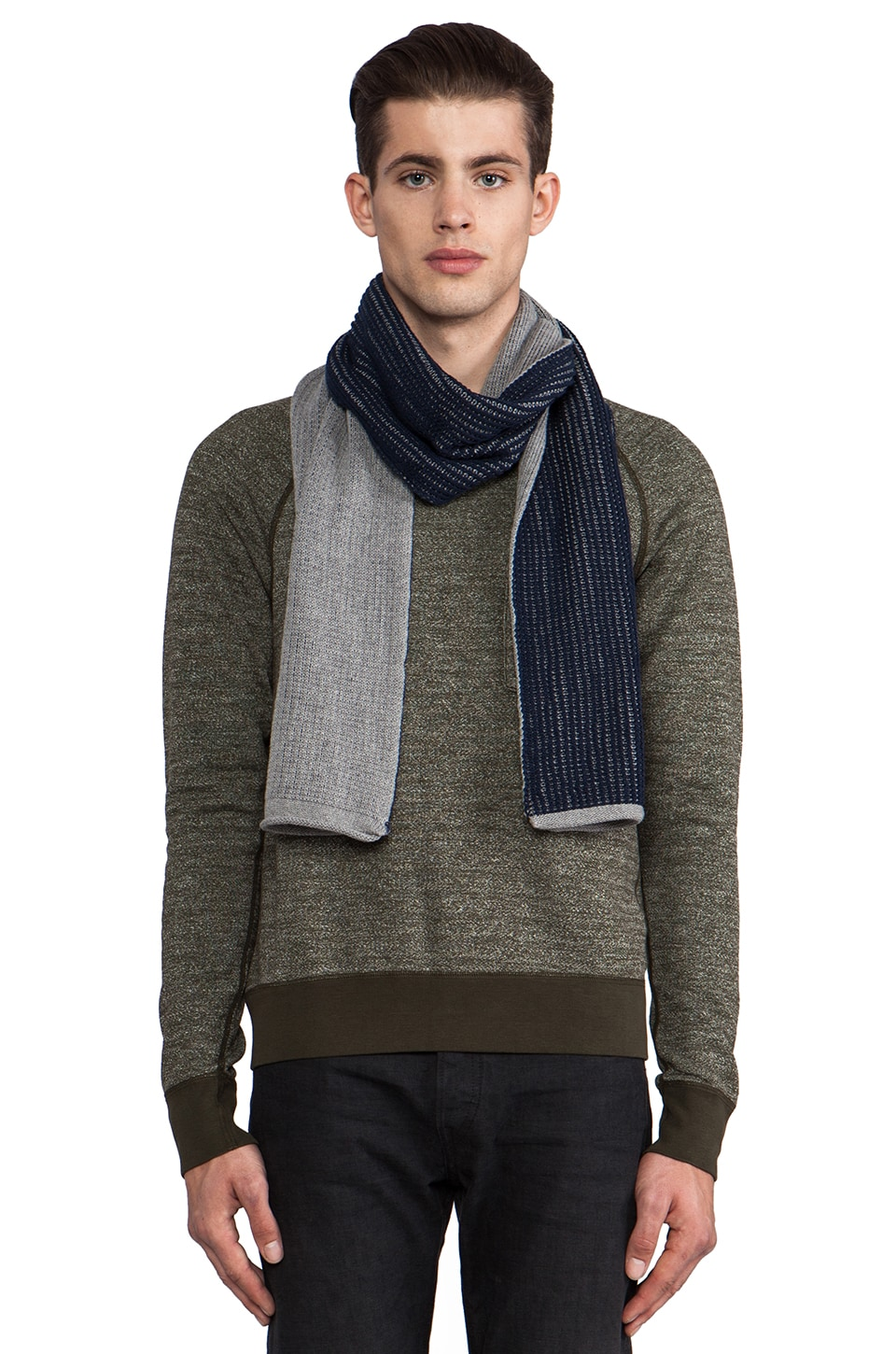life/after/denim Jack Frost Scarf in Heather Grey