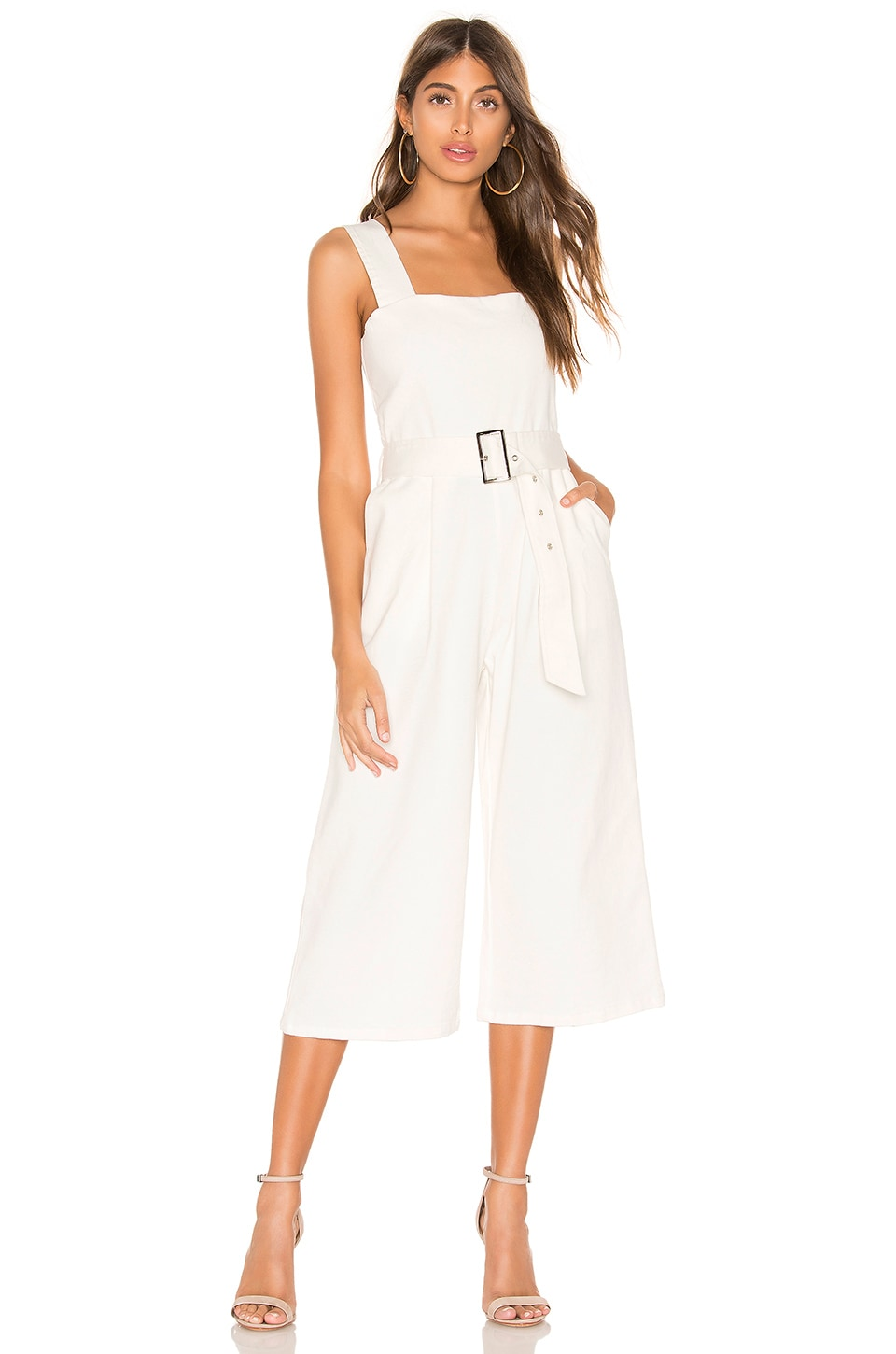 Line & Dot Victory Jumpsuit in White