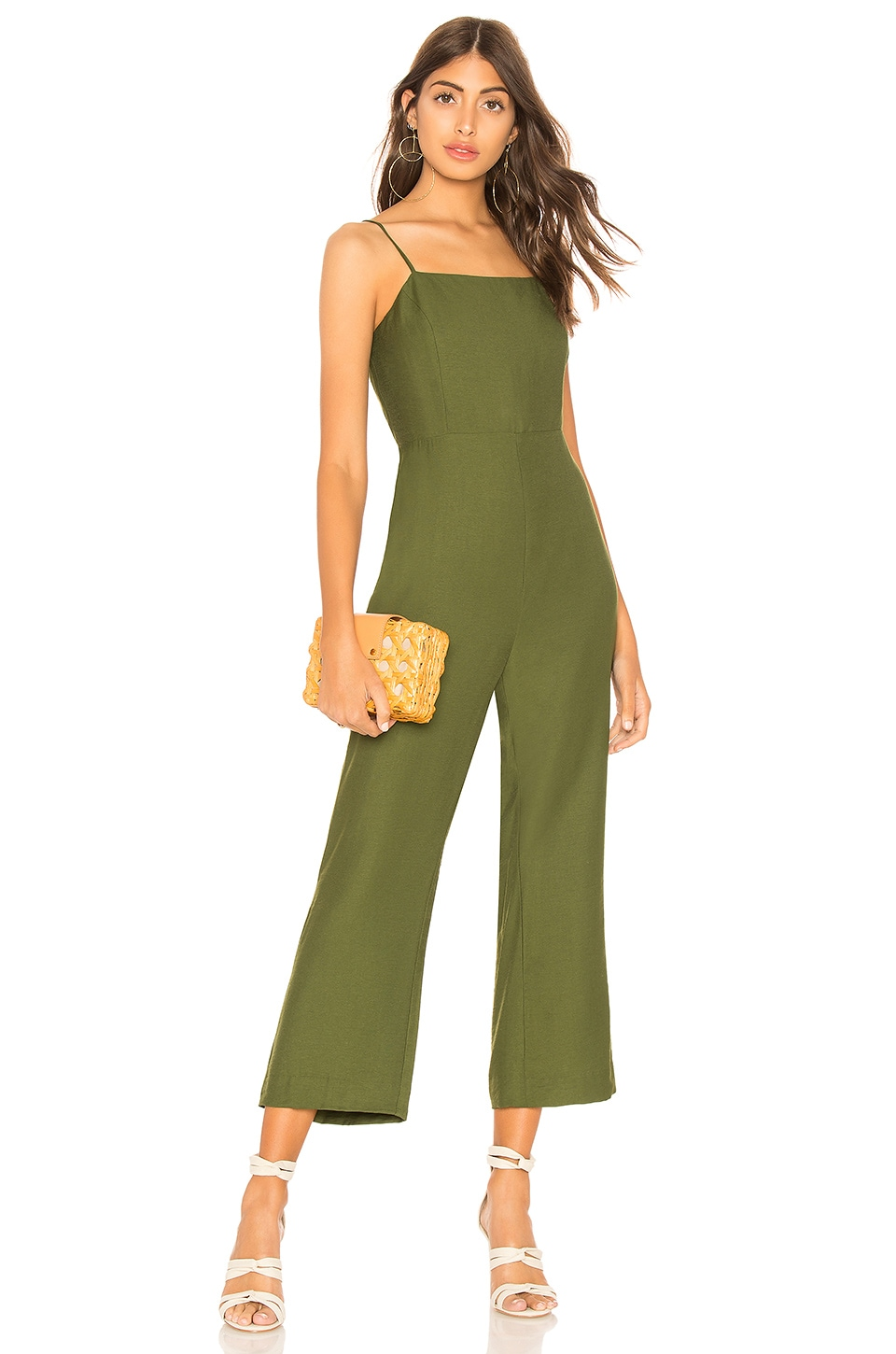Line & Dot Francine Jumpsuit in Moss