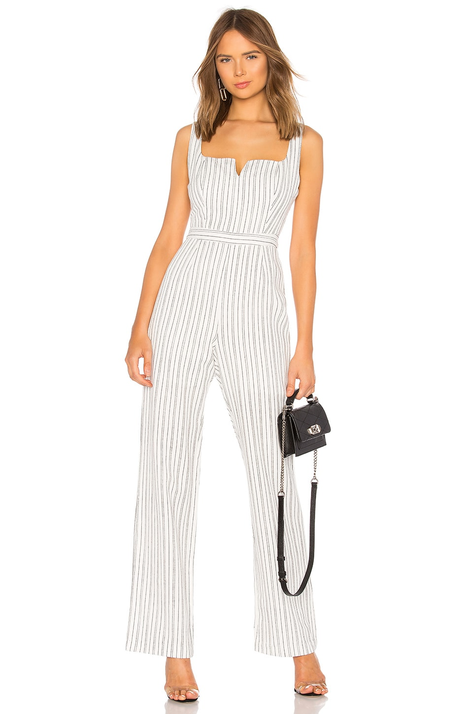 Line & Dot Toby Jumpsuit in White & Black