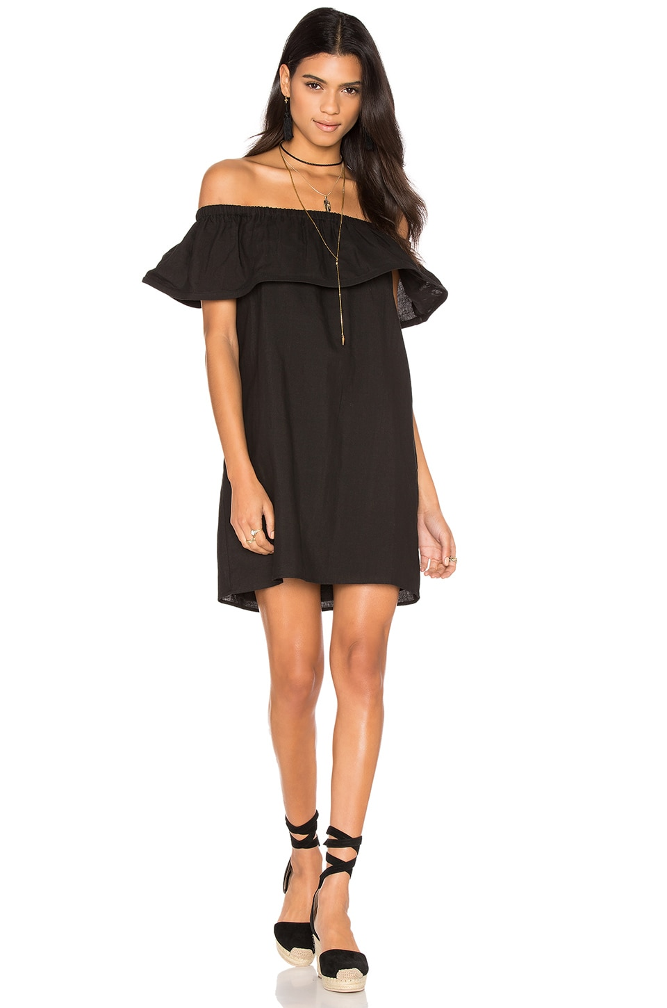 Concorde Ruffle Dress by Line & Dot
