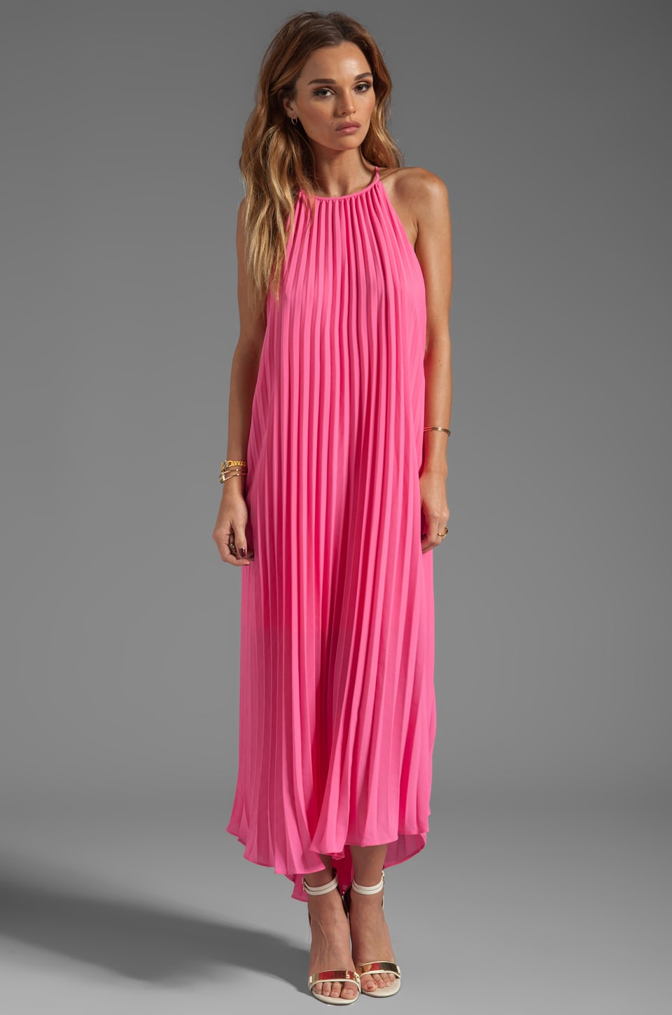 Line & Dot for REVOLVE Pleated Maxi in Hot Pink