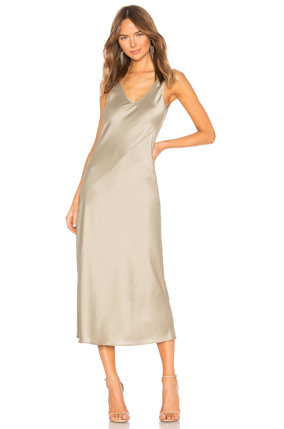 Line & Dot Larissa Dress in Sage