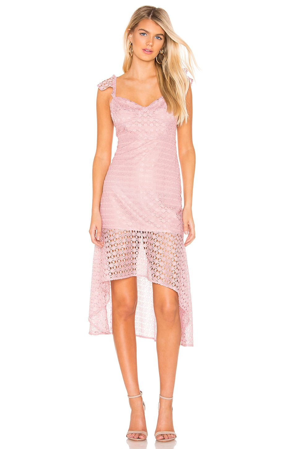 Line & Dot Valentina Dress in Mauve