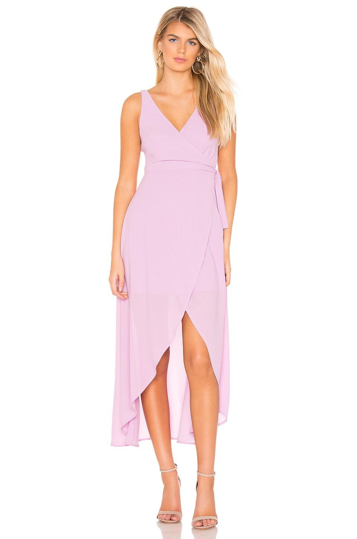 Line & Dot Rona Wrap Dress in Mauve