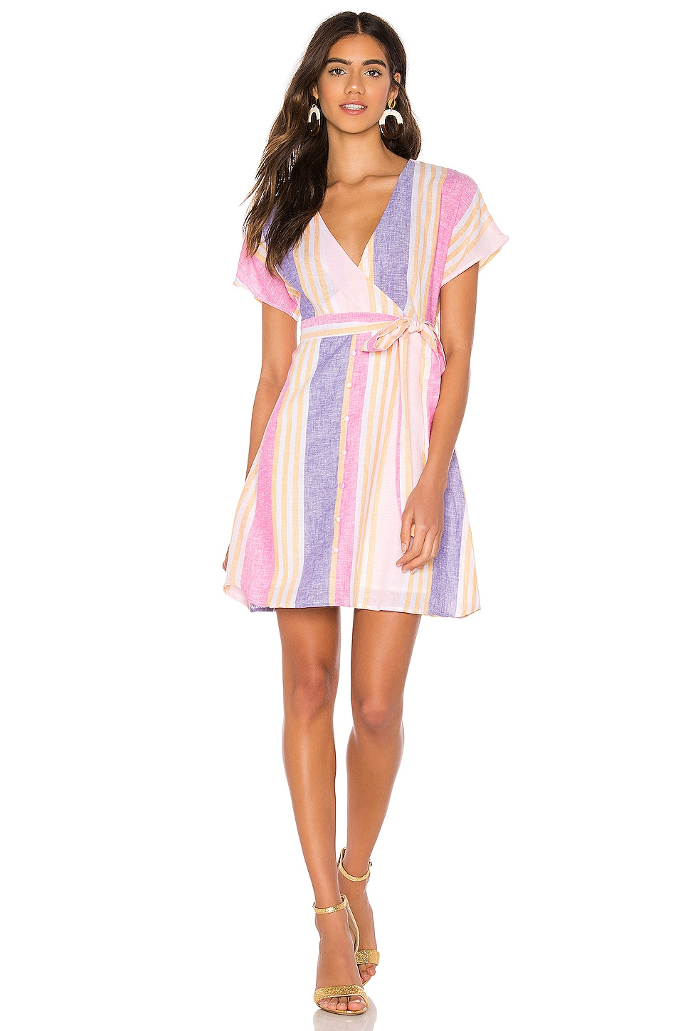 Line & Dot Kairi Dress in Flamingo