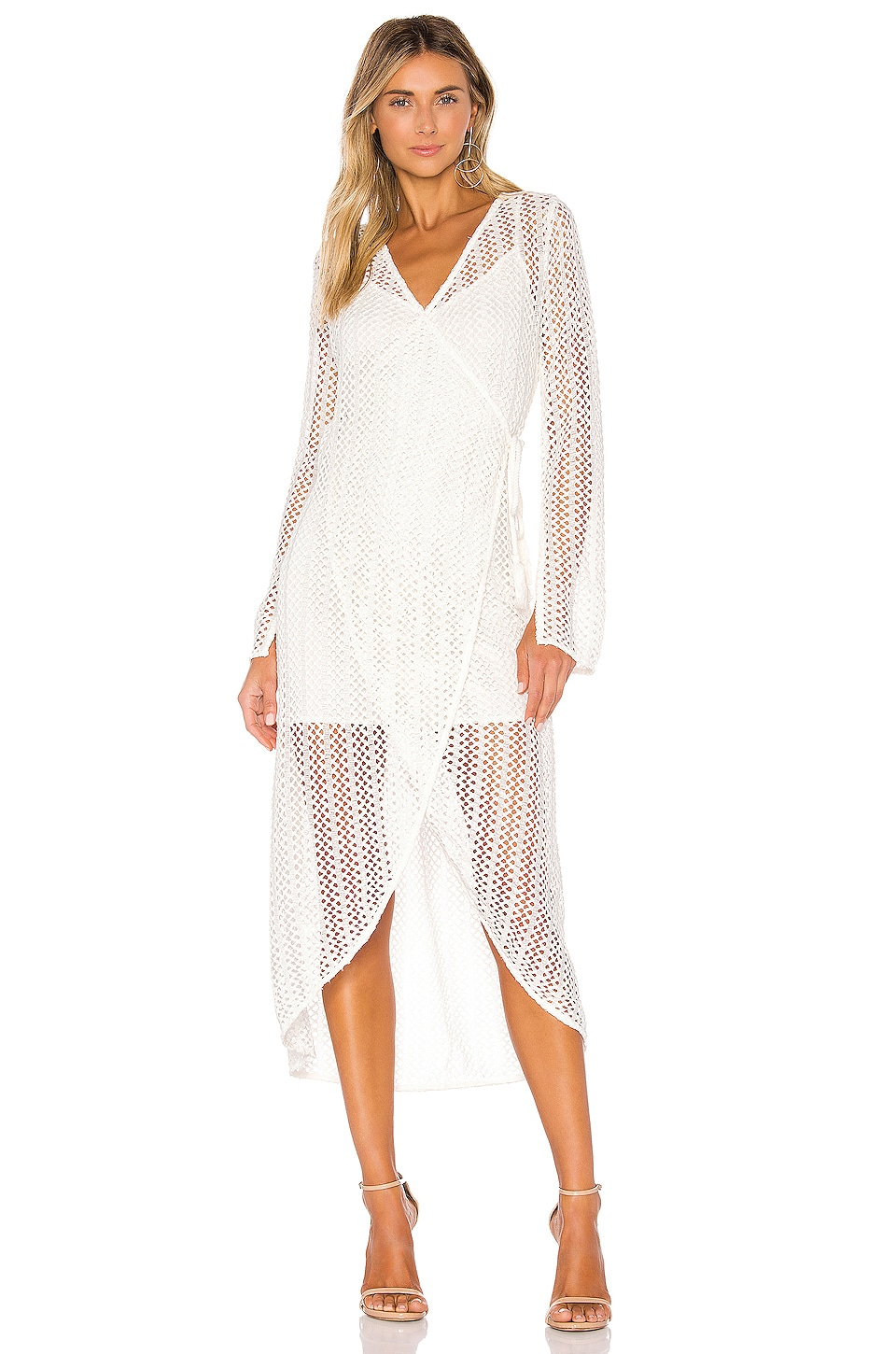 Line & Dot Zurie Dress in White