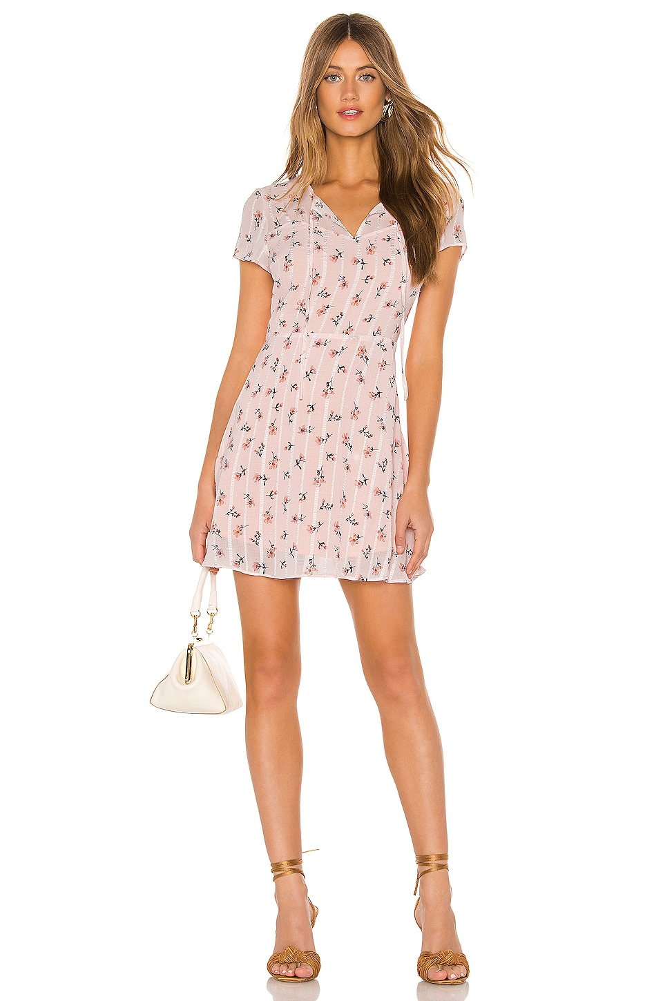 Line & Dot Malte Mini Dress in Peach