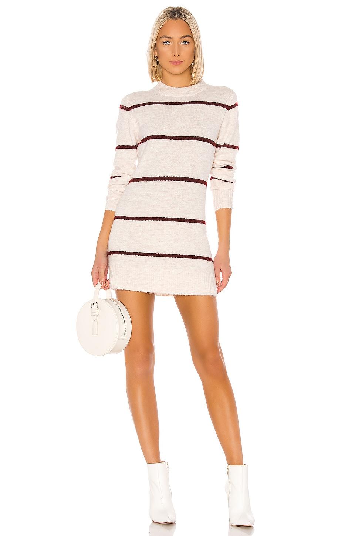 Line & Dot Eska Sweater Dress in Ivory & Wine