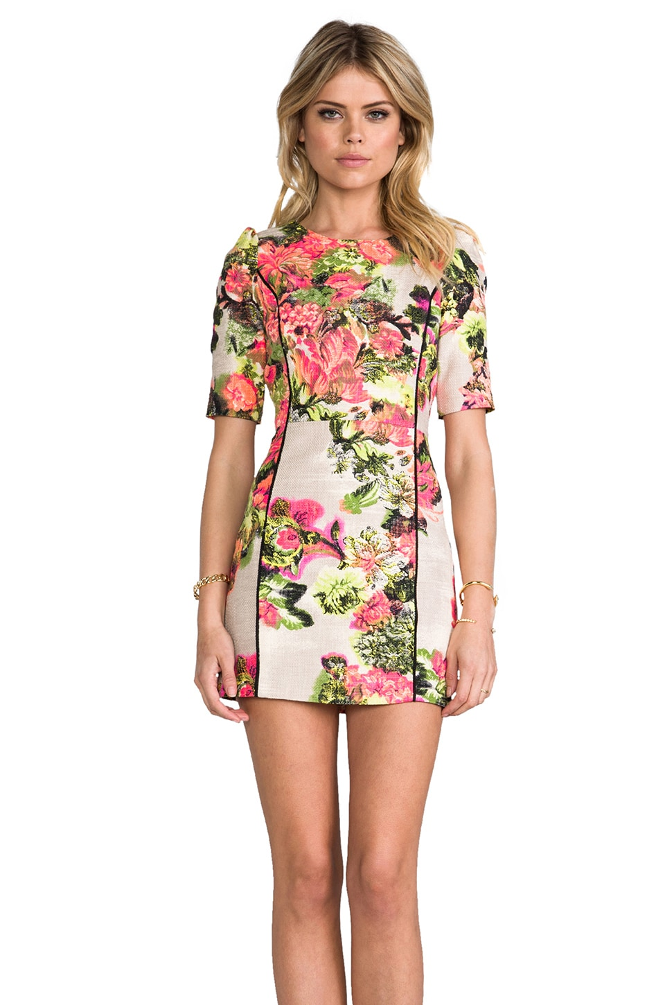 Line & Dot Organic Slim Dress in Botanical Garden