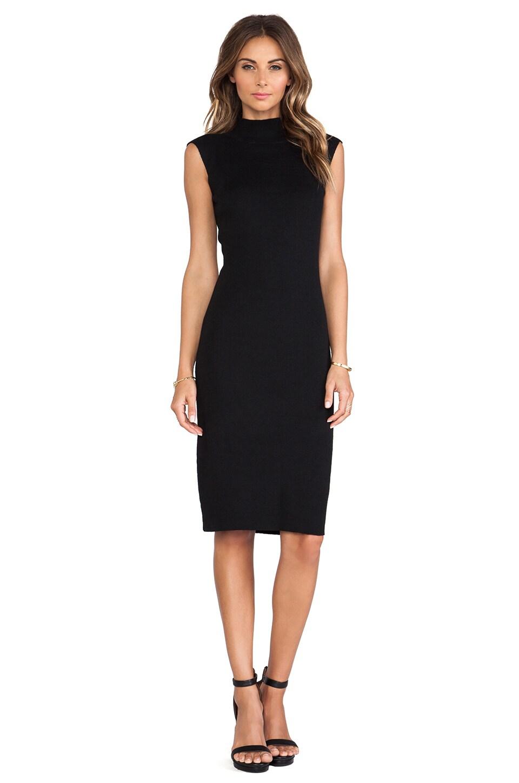 Line & Dot Cher Knit Skimmer Dress in Black