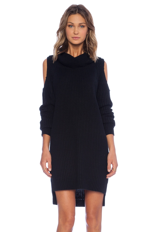 Line & Dot Keri Sweater Dress in Black
