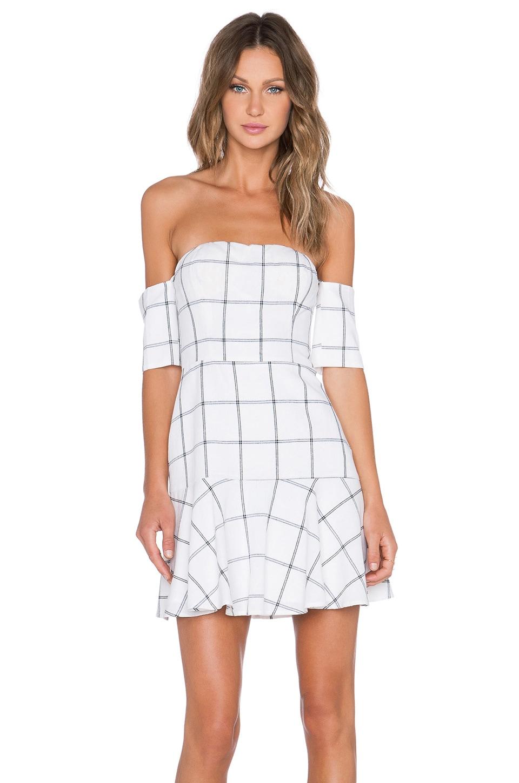 Line & Dot Bisous Off the Shoulder Dress in White