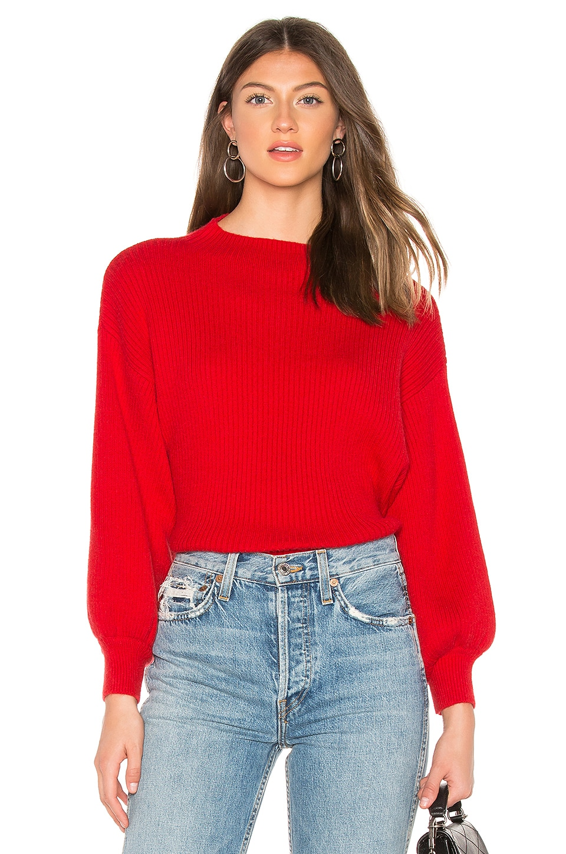 Line & Dot Alder Sweater in Red