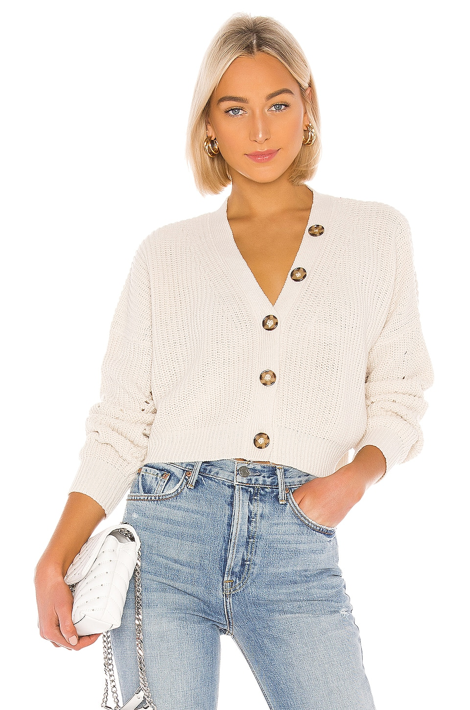 Line & Dot Scarlett Cardigan in Cream