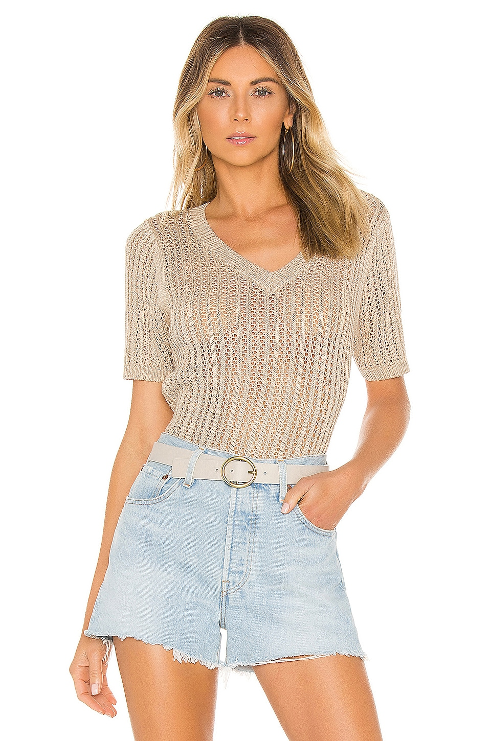 Line & Dot Moi Sweater in Taupe
