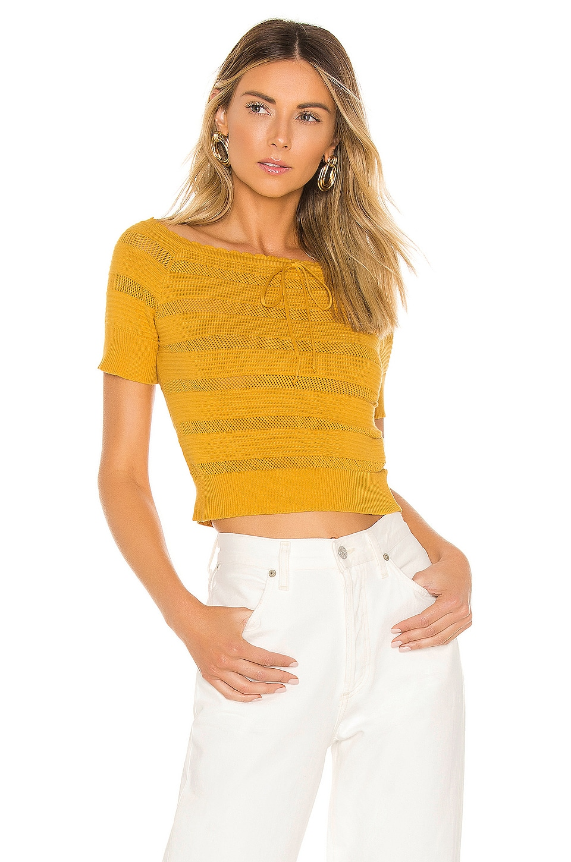 Line & Dot Soleil Sweater in Marigold