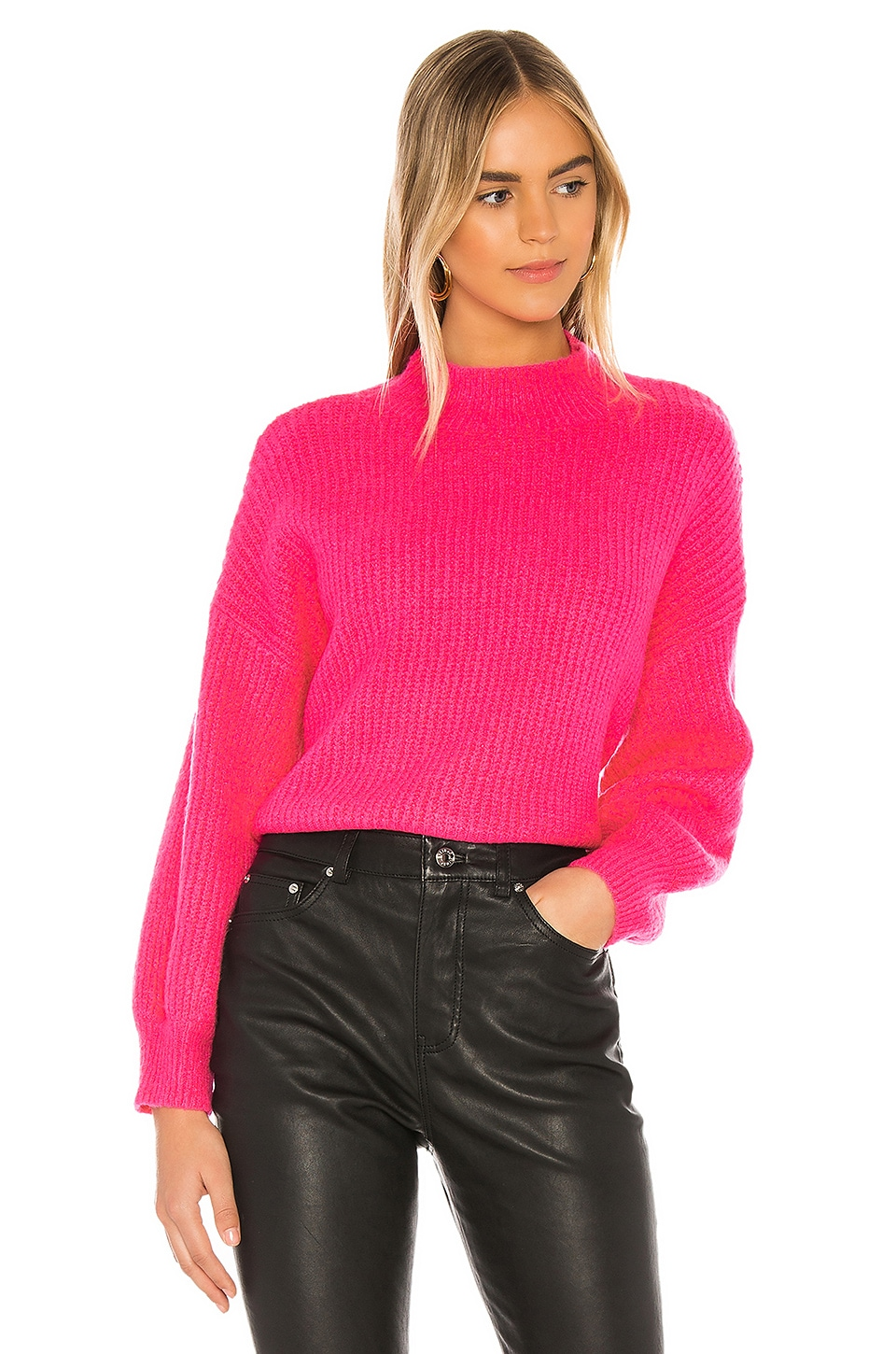 Line & Dot Ruby Sweater in Magenta