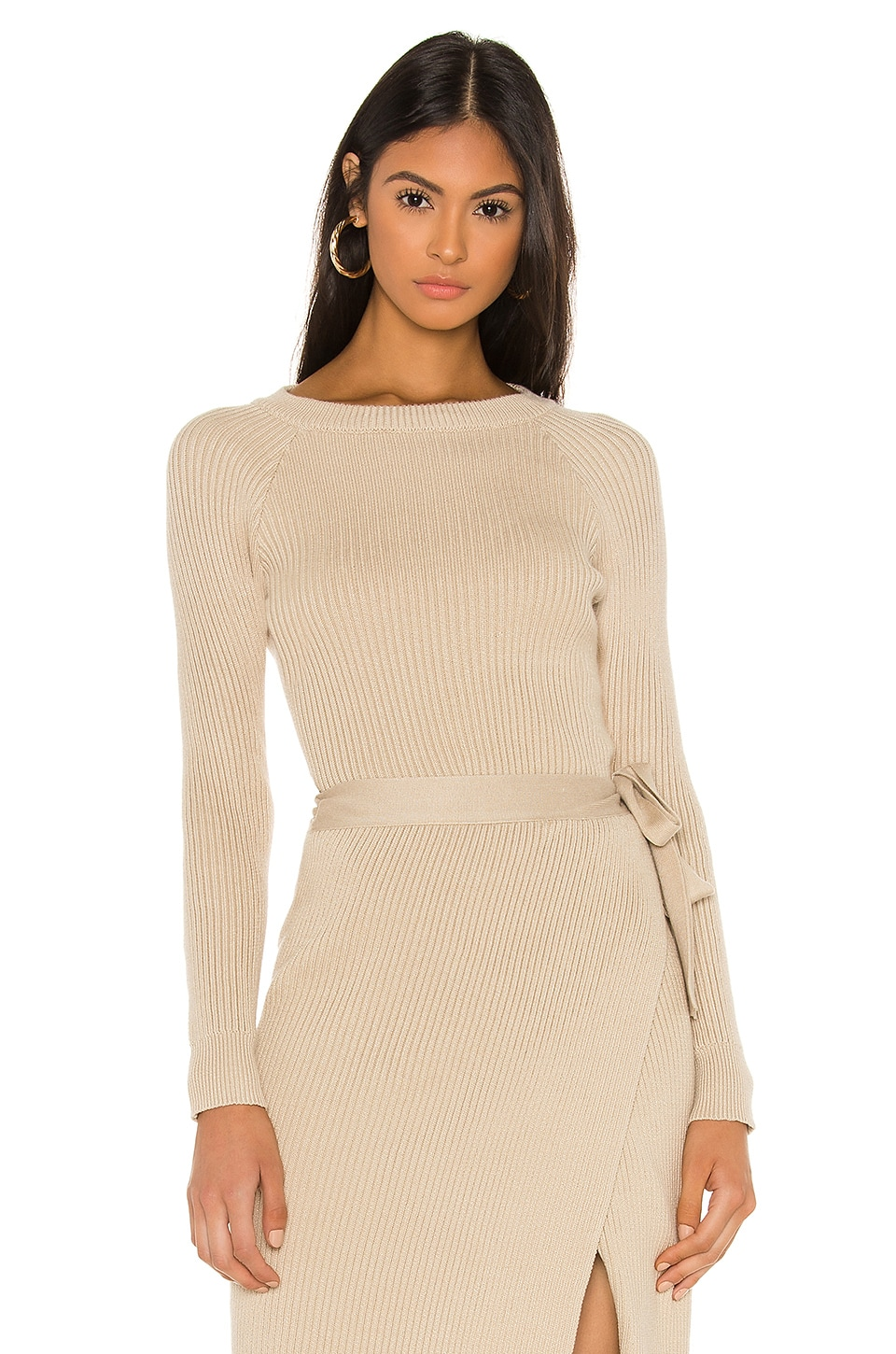 Line & Dot Alysa Sweater Set Top in Taupe