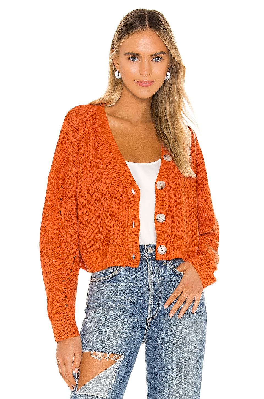 Line & Dot Scarlett Cardigan in Orange