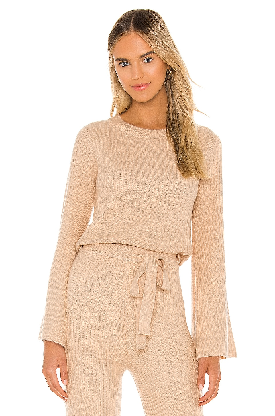 Line & Dot Ryder Sweater in Taupe