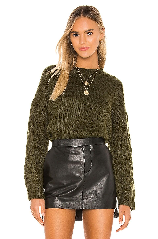 Line & Dot Juniper Sweater in Olive