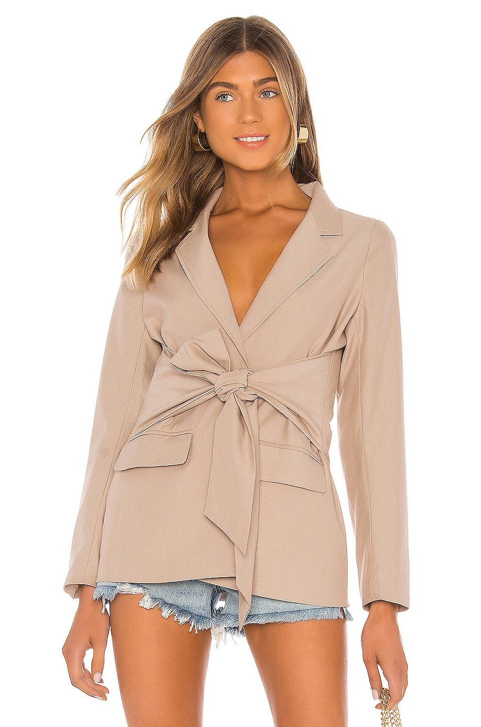 Line & Dot Georgette Blazer in Taupe