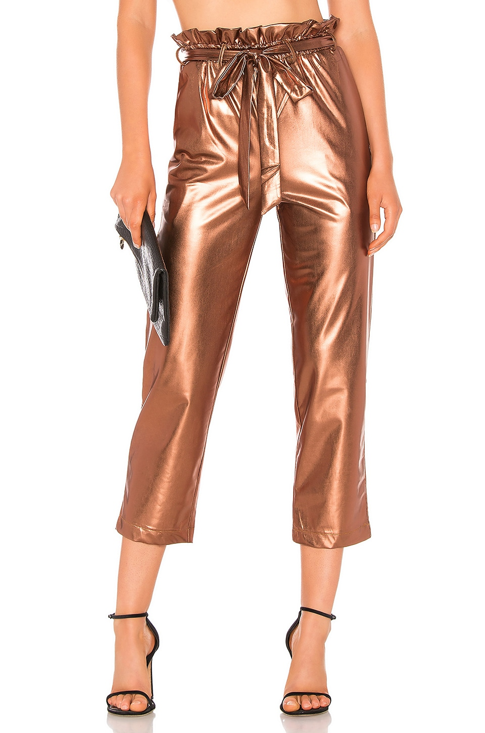 Line & Dot Kaya Paperbag Waist Pant in Copper